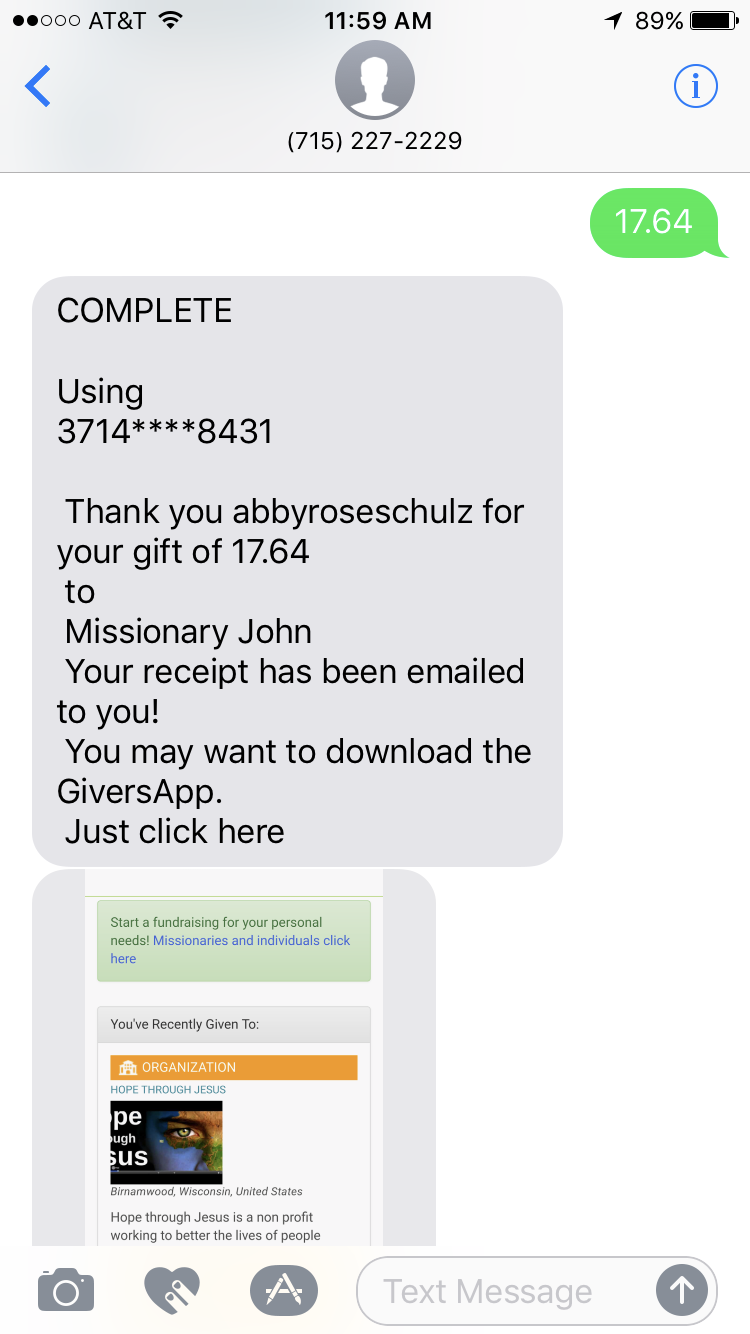 Text-to-Give-Phone-Screen